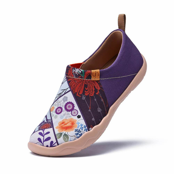 UIN Footwear Women Nippon Flora Canvas loafers