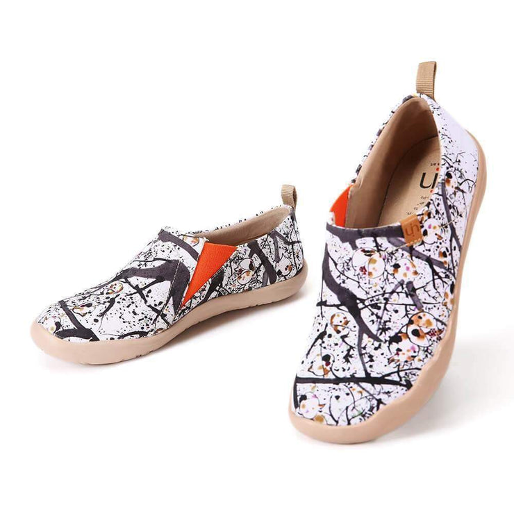 UIN Footwear Women POMEGRANATE Painted Canvas Lady Slip-on Shoes Canvas loafers
