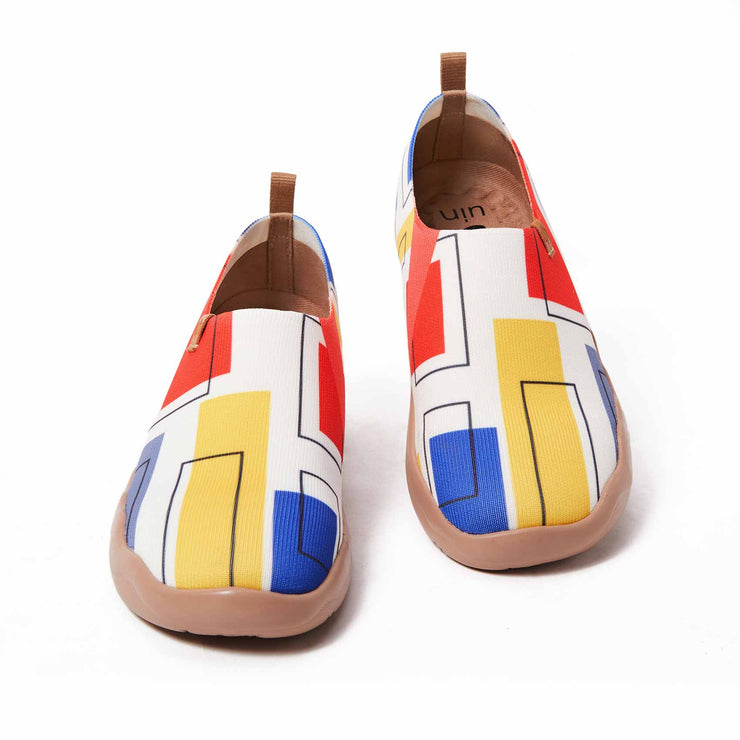 UIN Footwear Women (Pre-sale) Color Cubes Women Canvas loafers