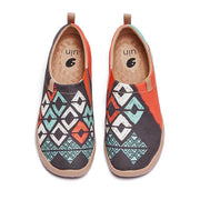 UIN Footwear Women Spirit Pattern Canvas loafers