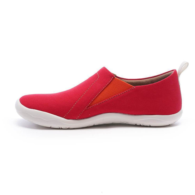UIN Footwear Women Toledo Red Canvas loafers