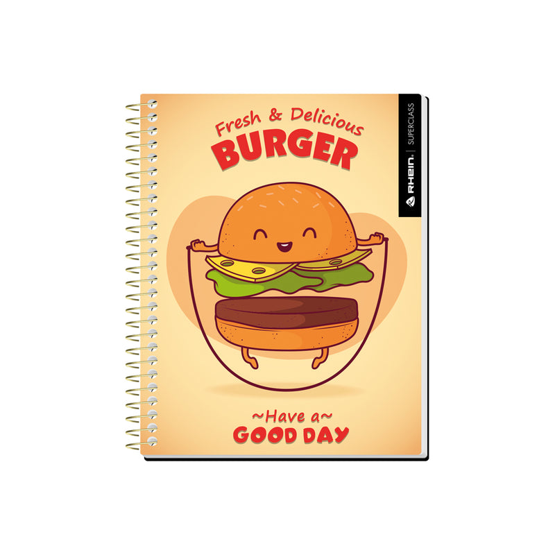 Pack 5 Cuadernos Food Premium