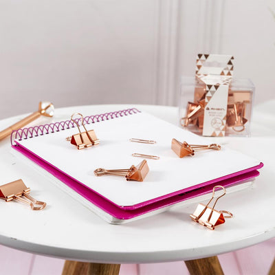 Binder Clips Rose Gold