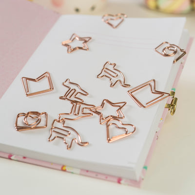 Clips Rose Gold Figuras