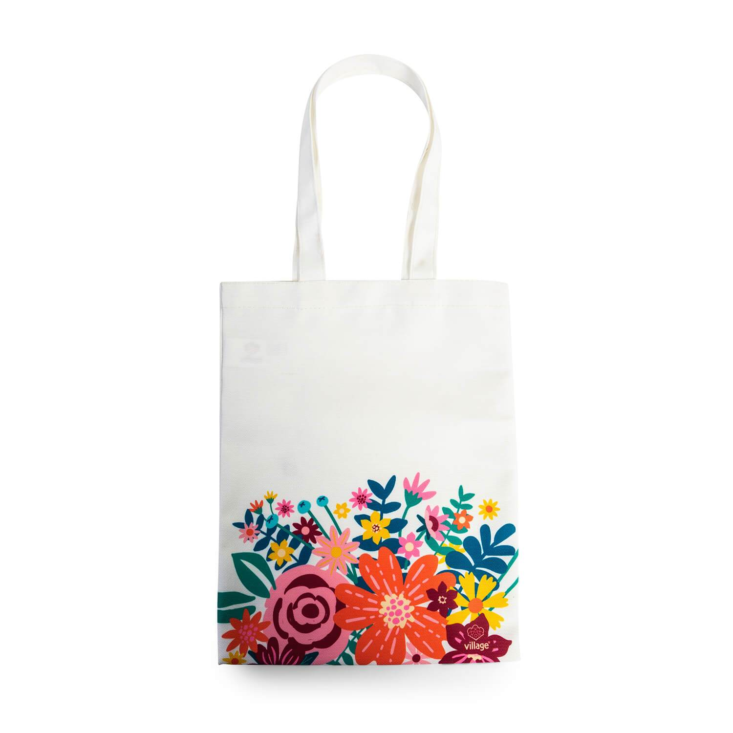 Bolsa Canvas Flores Village