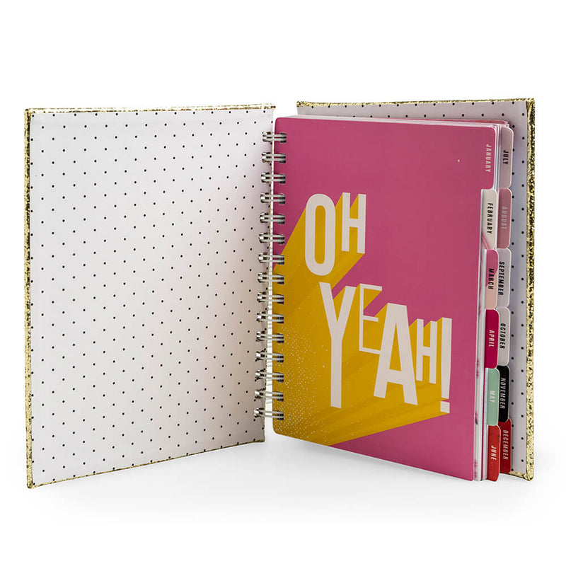 Planner Glitter Dorado Color Fresh