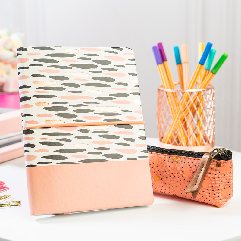 Libreta Flexible Peach Puntos