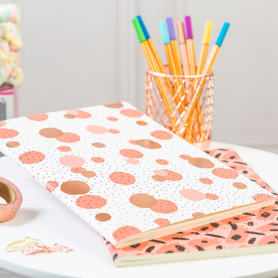 Set Libretas Flexible Peach