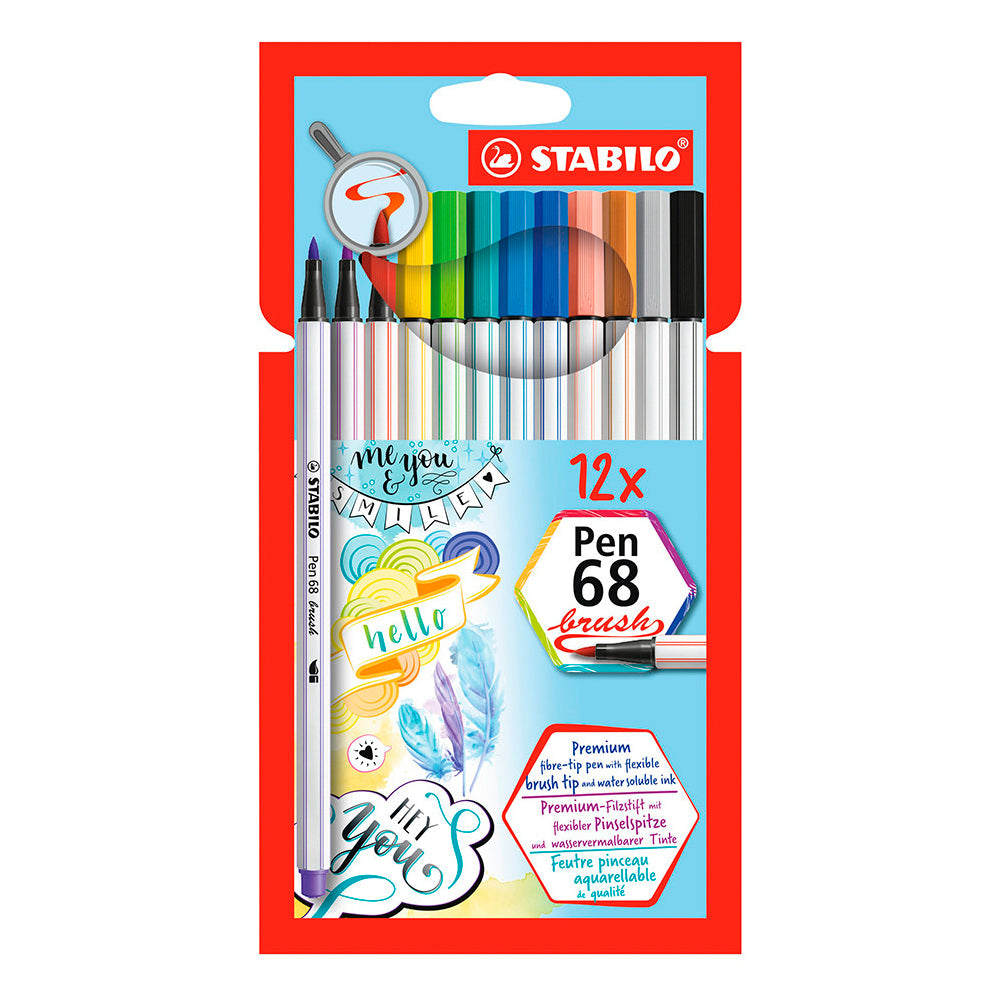 Set 12 Stabilo Pen 68 Brush