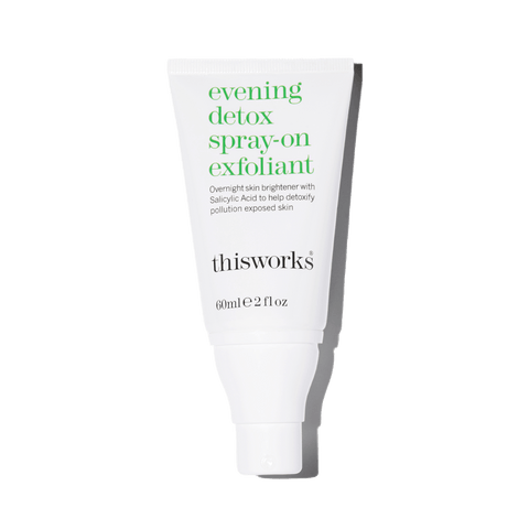 evening detox spray-on exfoliant