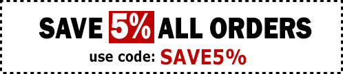 Save 5% OFF Entire Website