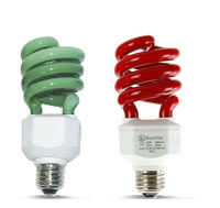Compact Fluorescent Colored Bulbs