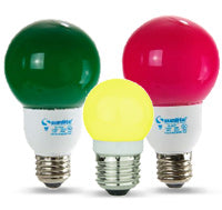 Globe Colored Bulbs