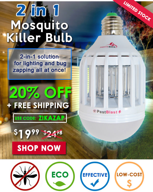 2 in 1 Mosquito Killer Bulb - 20% OFF Plus Free Shipping