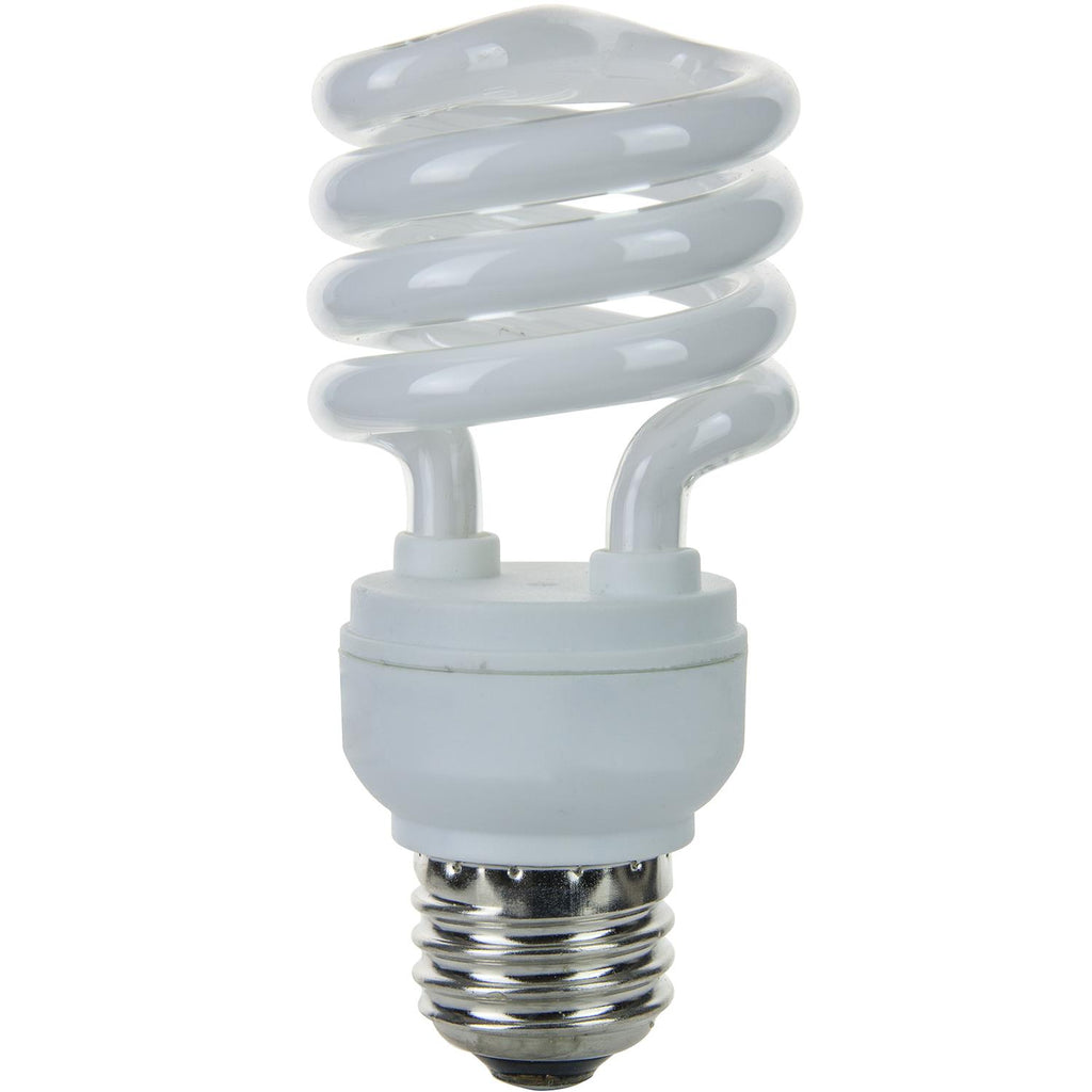 4Pk - SUNLITE 13w T2 Medium Base 2700K Warm White Super Mini Spiral Lamp