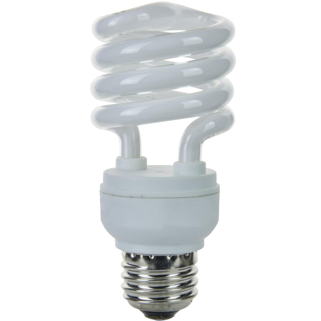 SUNLITE 13w T2 Medium Base 3000K Warm White Super Mini Spiral Lamp