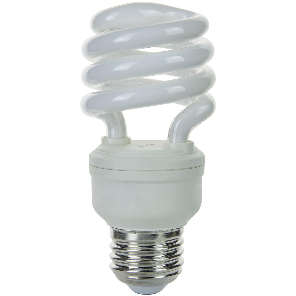SUNLITE 13w T2 Medium Base 4100K Cool White Super Mini Spiral Lamp