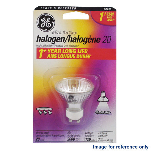 GE 20W 120V BAB MR16 GU10 Flood Halogen Light Bulb