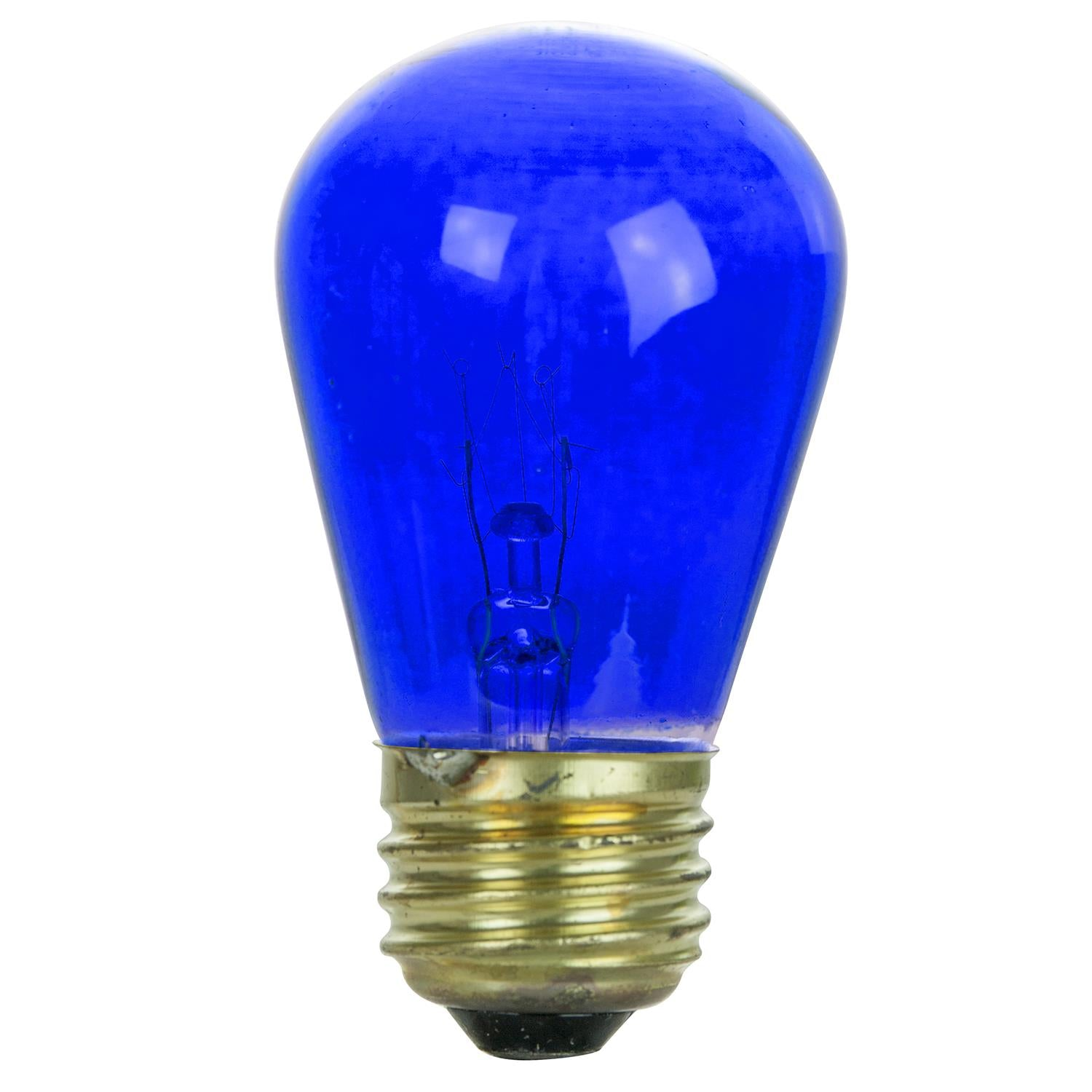4Pk - SUNLITE 11w S14 Blue Transparent 120v Medium Base Incandescent Bulb