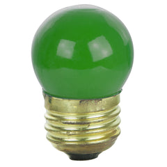 25Pk - SUNLITE 7.5W S11 Colored Indicator Medium Ceramic Green