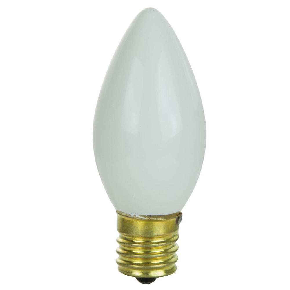 25pc - SUNLITE 7w C9 120v E17 Intermediate Base White Bulb