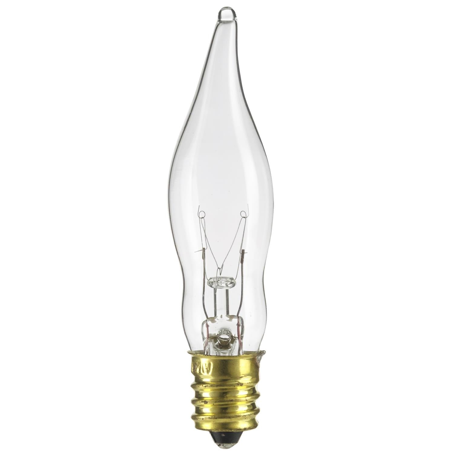 SUNLITE 7 watt Flame 120v Petite Chandelier Incandescent light bulb