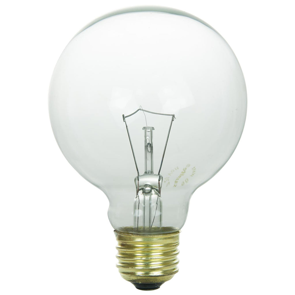 SUNLITE 25w 130v G25 Globe Medium Base Clear Incandescent Bulb