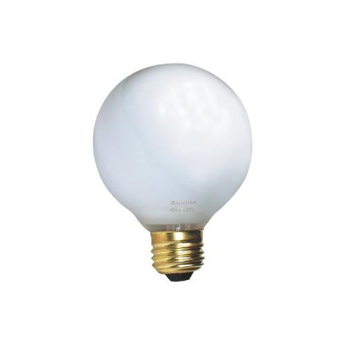 SUNLITE 60W 130V Globe G25 White Incandescent Light Bulb