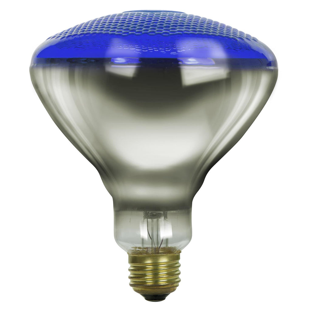 SUNLITE 100w BR38 Flood Colored Reflector E26 Prismatic Blue Incandescent Bulb