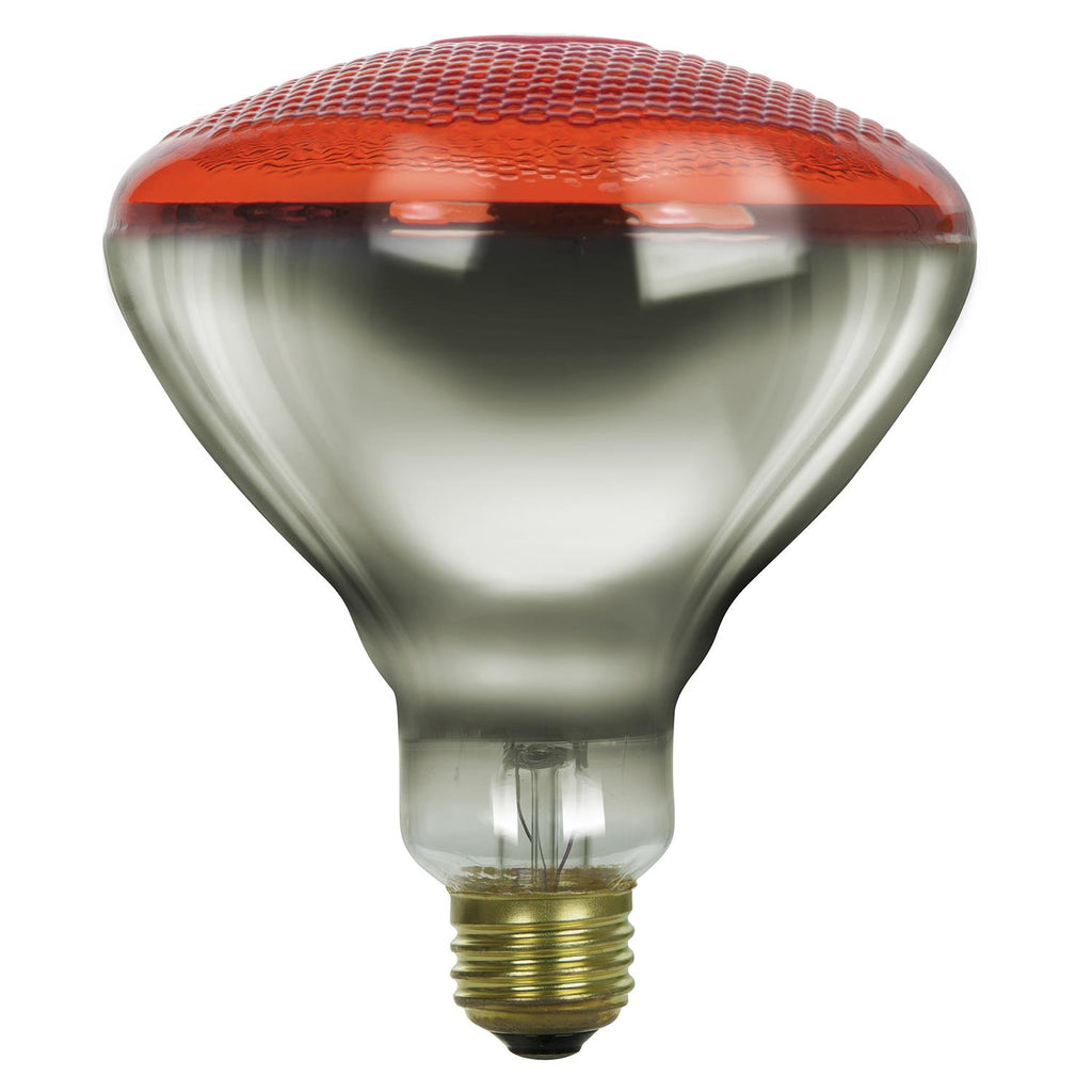SUNLITE 100w BR38 Flood Colored Reflector Medium Base Prismatic Red Incandescent Bulb
