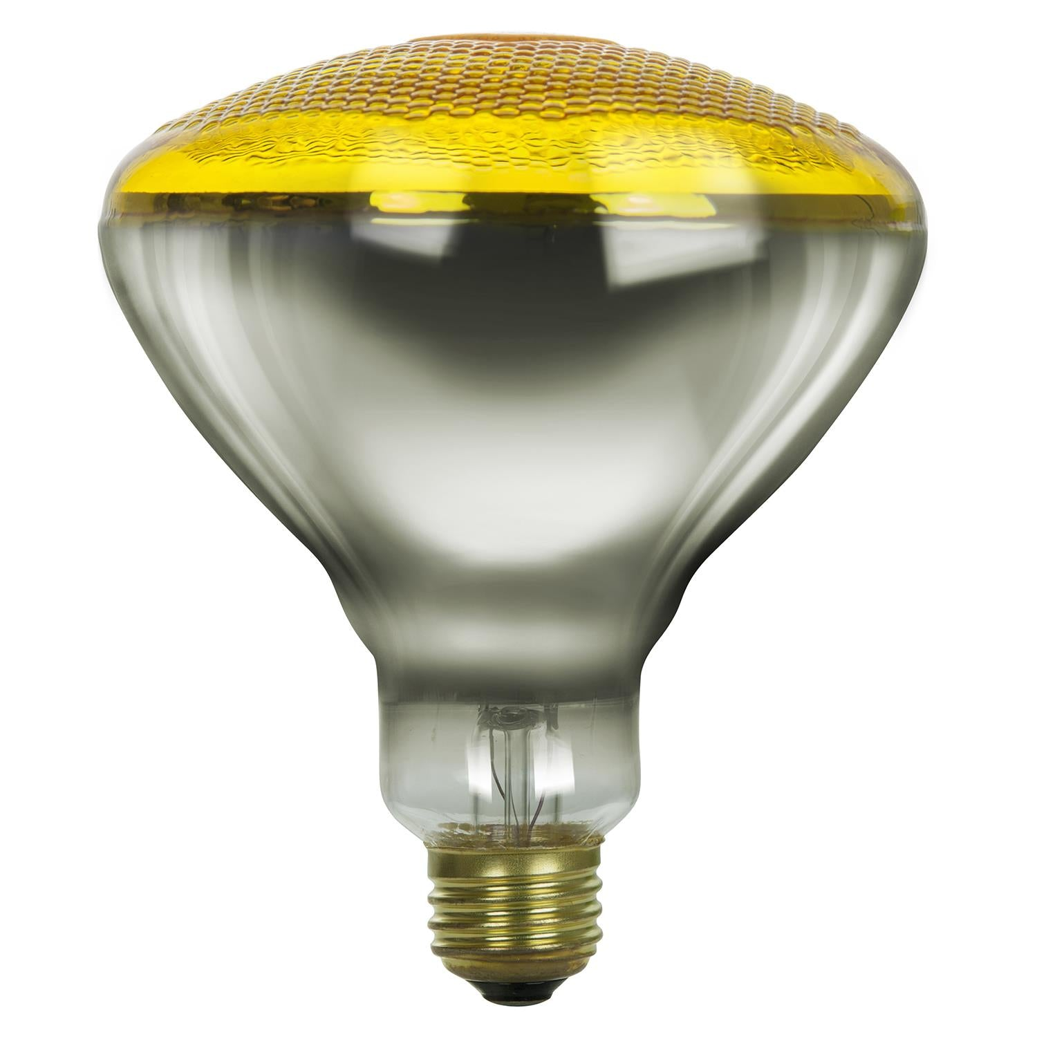 SUNLITE 100w BR38 Flood Reflector Medium Base Prismatic Yellow Incandescent Bulb