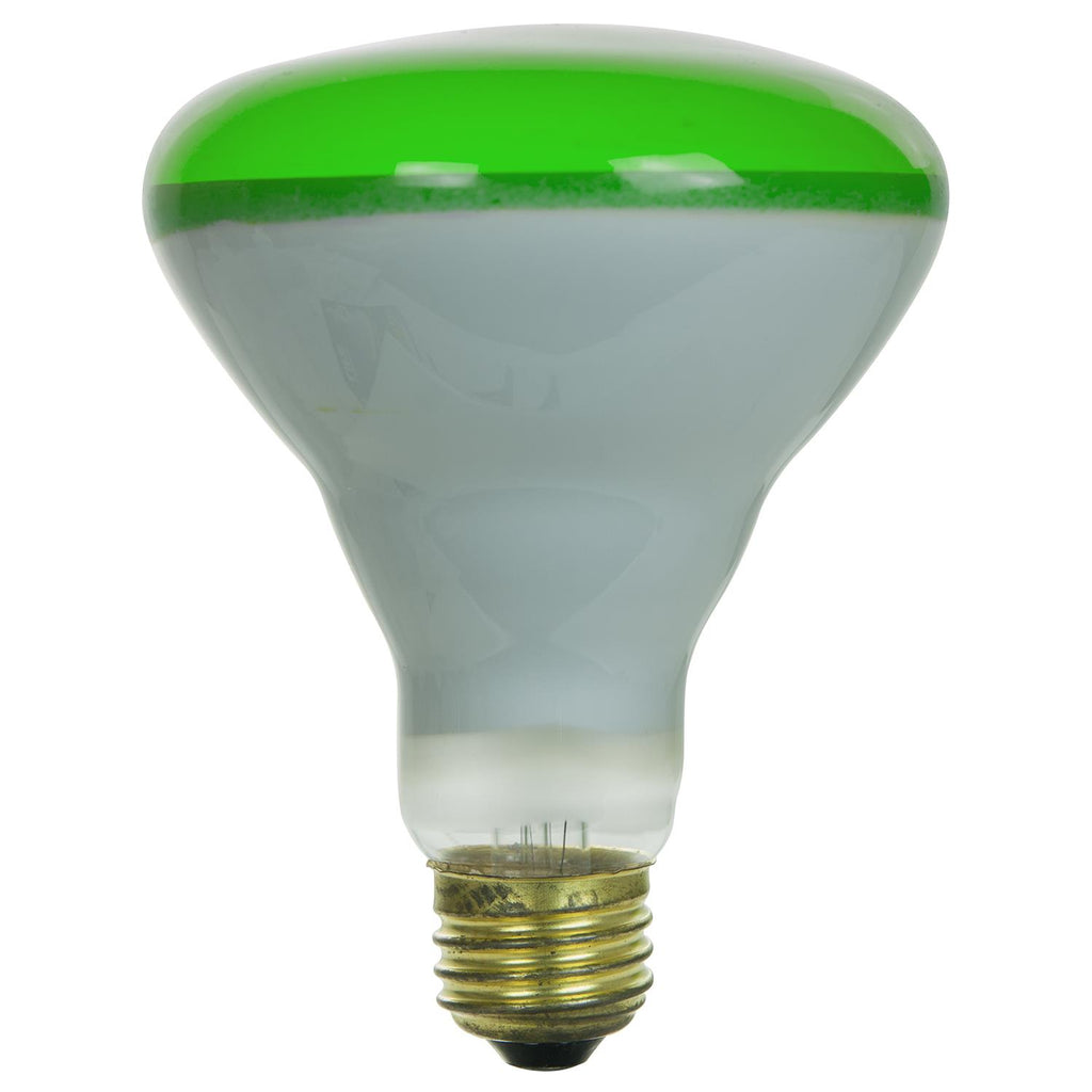 SUNLITE 65w BR30 Colored Reflector Medium Base Frost Green Incandescent Bulb