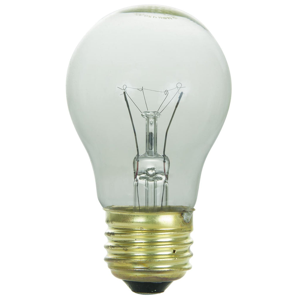 SUNLITE 15w A15 Medium Base 3200K Clear Appliance Incandescent Bulb