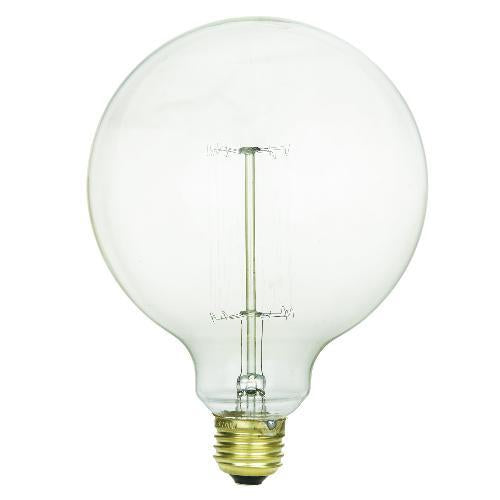 SUNLITE 40w 120v Globe G40 Antique Vintage Style Smoke Incandescent Light Bulb