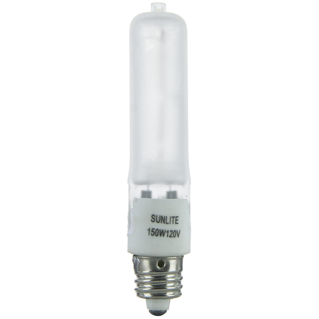 SUNLITE 150w Single Ended T4 E11 Mini Candelabra Frost Halogen Lamp