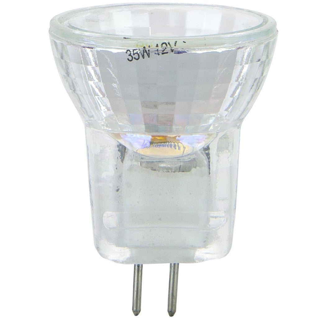 SUNLITE 35w 12v MR8 Flood 36deg. G4 Bi-Pin Base with Cover Guard 3200K Lamp