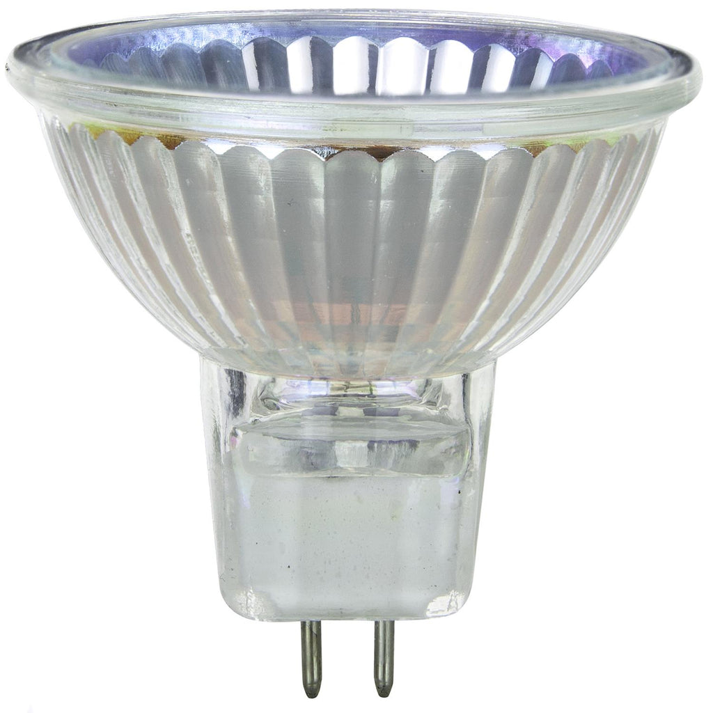 SUNLITE 50w 120v MR16 Flood 38deg. GU5.3 Bi-Pin With Cover Guard Halogen Bulb