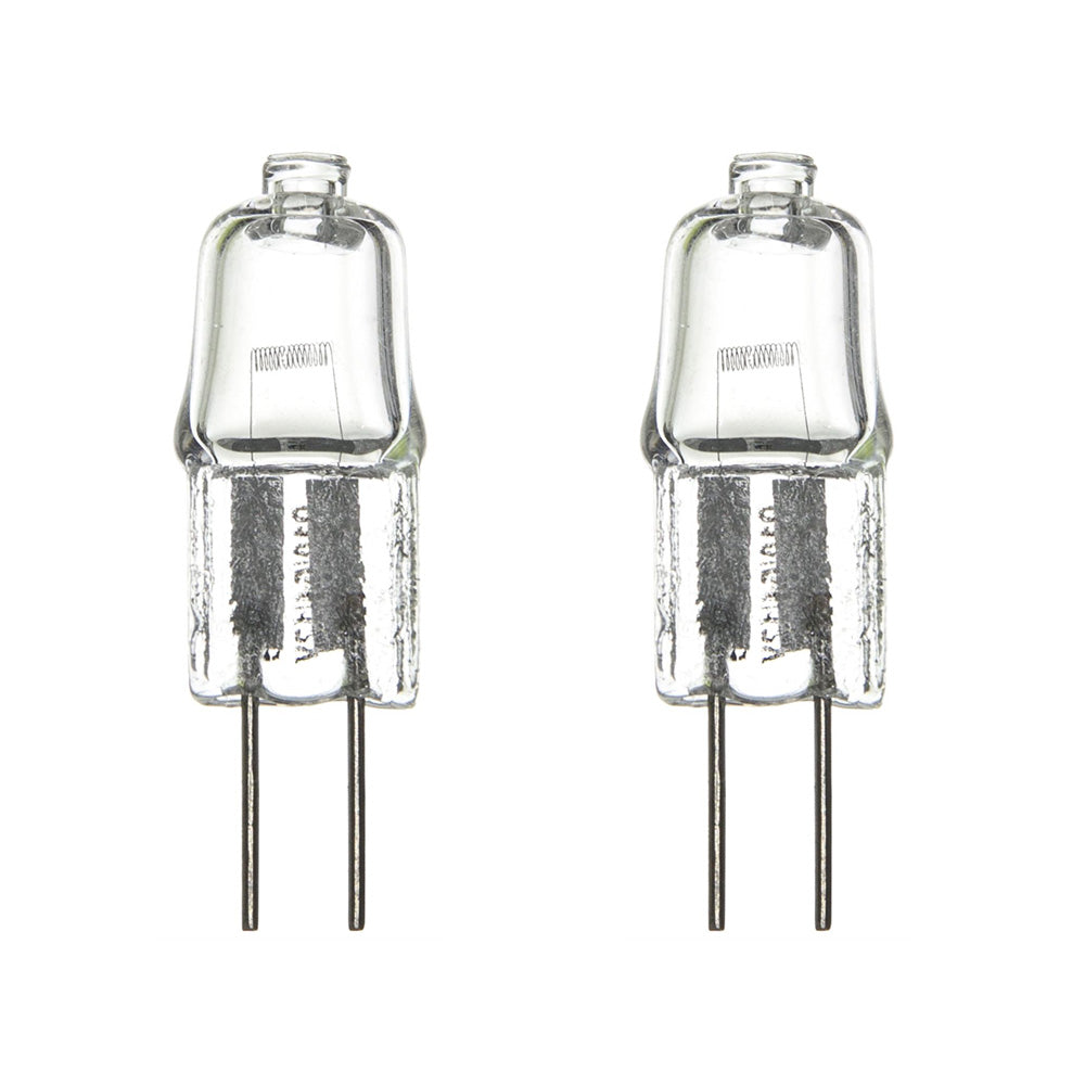 2PK - SUNLITE 20w 12v G4 Bi-Pin Base Base Single Ended T2.5 Clear 3200K Halogen Lamp