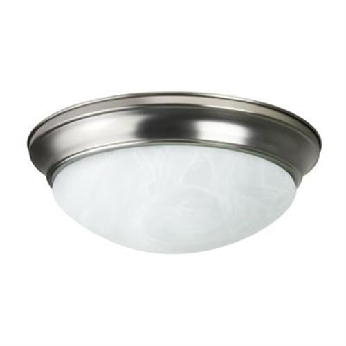 Sunlite 12in Dome Brushed Nickel Albaster Glass - 2 Energy Star 18w Bulbs