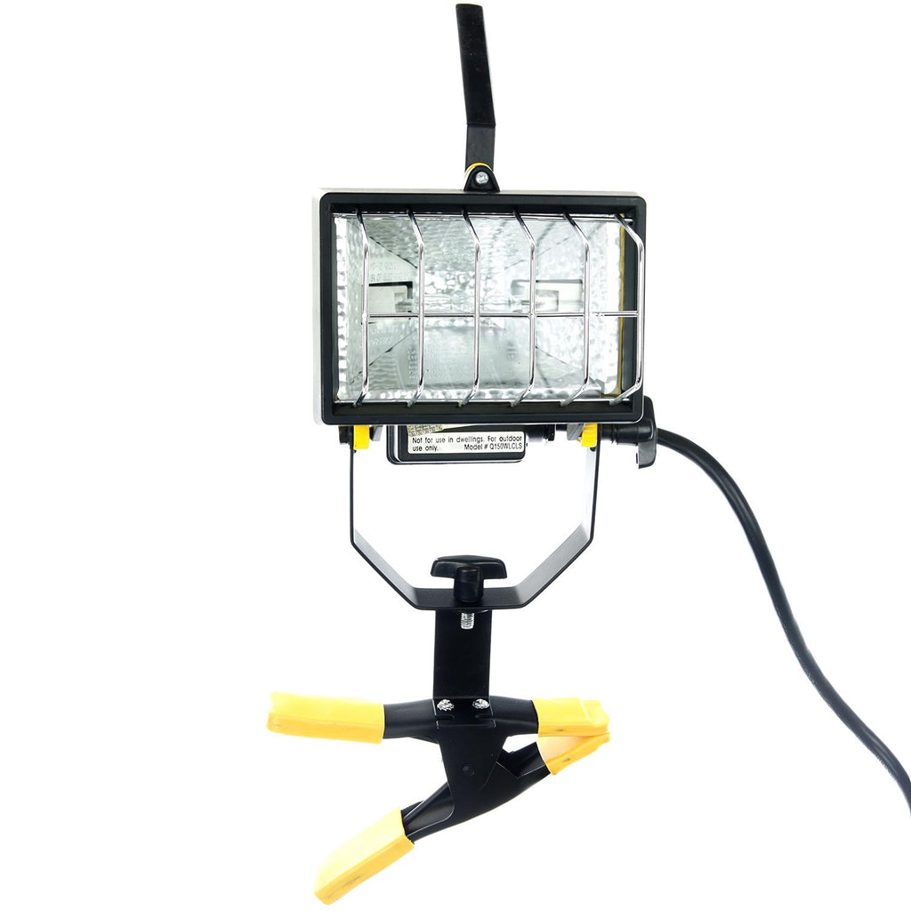 SUNLITE Clamp On Halogen Work Light Lamp