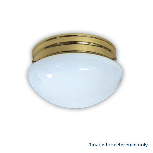 Sunlite 6in. Mushroom Polished Brass - 1 Energy Star 18w Bulb