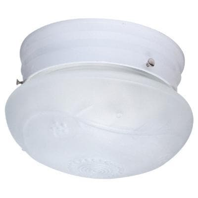 Sunlite 6in. Mushroom White Finish with White Glass Ceiling Fixture