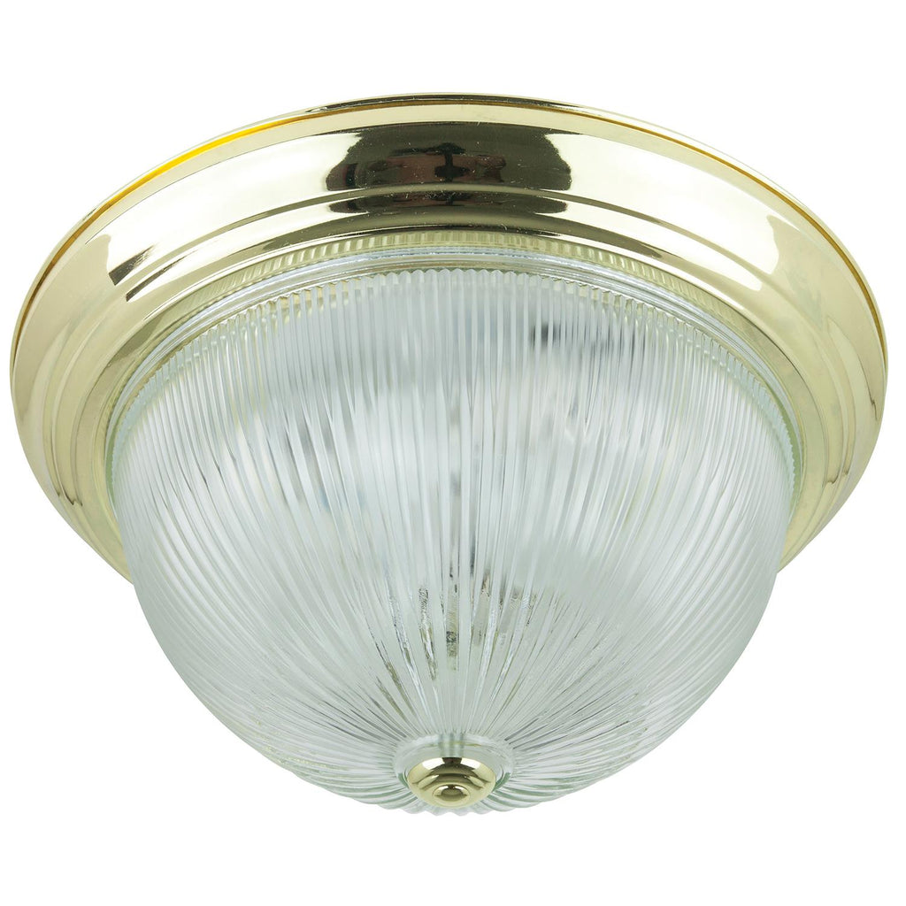 Sunlite 04537-SU E26 Decorative Dome Style Polished Brass Ceiling Flush Mount Fixture