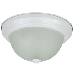 "Sunlite 04541-SU 120v 11"" Metal & Glass Dome Fixture Smooth White Frosted Glass"