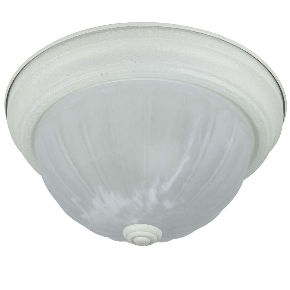"Sunlite 04589-SU 11"" Dome Ceiling Fixture Texture White Alabaster Glass"