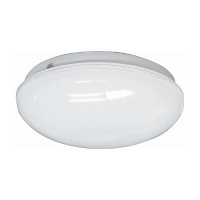 Sunlite AM32 12 inch Shallow Frost Ribbed Energy Saving Plastic Fixture