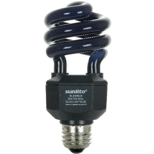 6 pcs. CF 20w Mini Twist Blacklight Blue Bulb