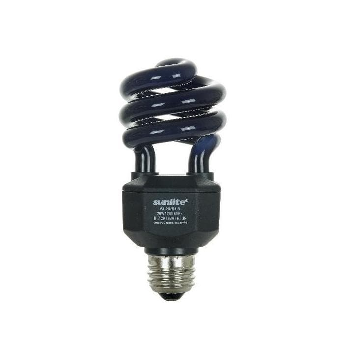 Compact Fluorescent 20w Mini Twist Blacklight Blue Light Bulb