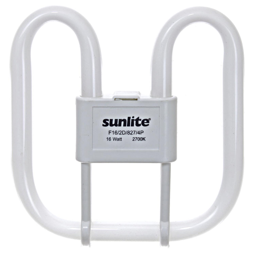 SUNLITE 16w 2D Lamp GR10q-4 Base 2700K Warm White Fluorescent Lamp