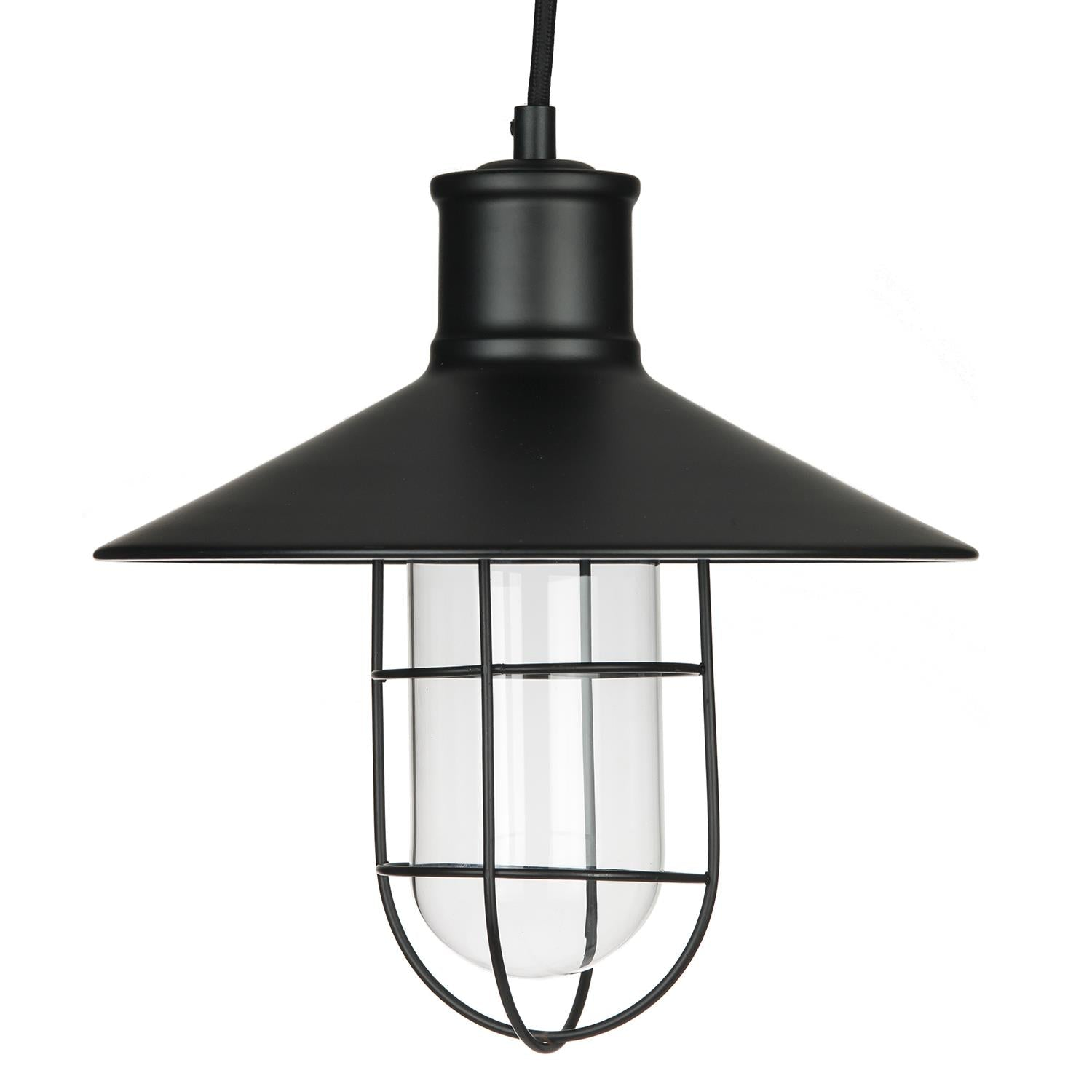 SUNLITE 07005-SU E26 Canopy Cage Oil Black Pendant Light Fixture